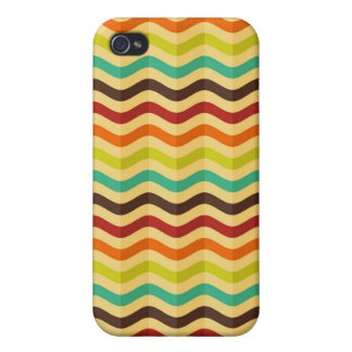 Background with stripes in retro 4 iPhone 4 case