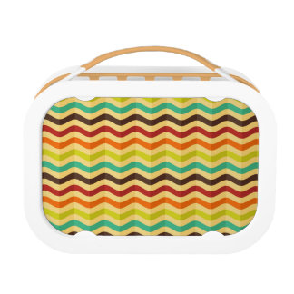 Background with stripes in retro 4 lunch box