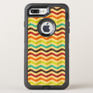 Background with stripes in retro 4 OtterBox defender iPhone 8 plus/7 plus case