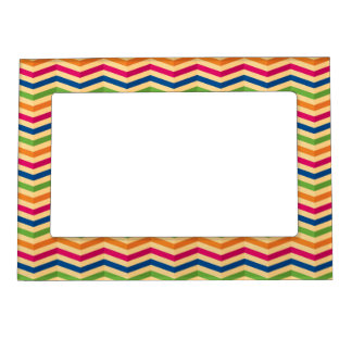 Background with stripes in retro magnetic picture frame