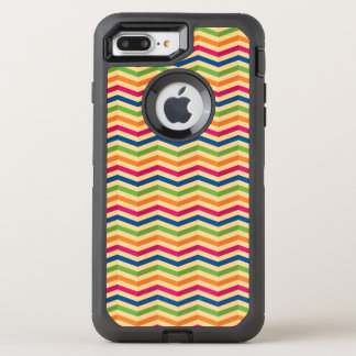 Background with stripes in retro OtterBox defender iPhone 8 plus/7 plus case