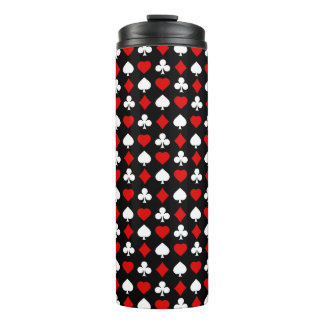 Background with suits thermal tumbler
