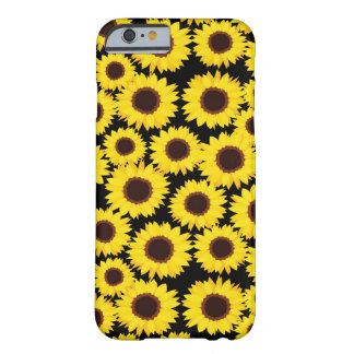 Background with sunflowers barely there iPhone 6 case