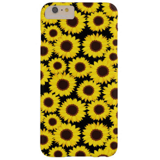 Background with sunflowers barely there iPhone 6 plus case