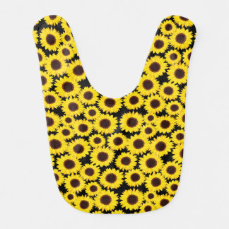 Background with sunflowers bibs