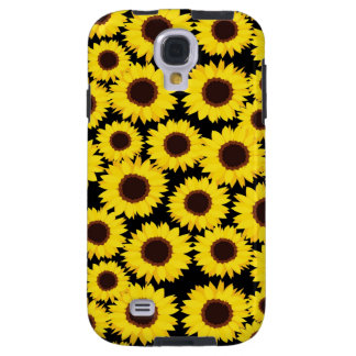 Background with sunflowers galaxy s4 case