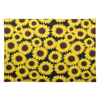 Background with sunflowers placemat