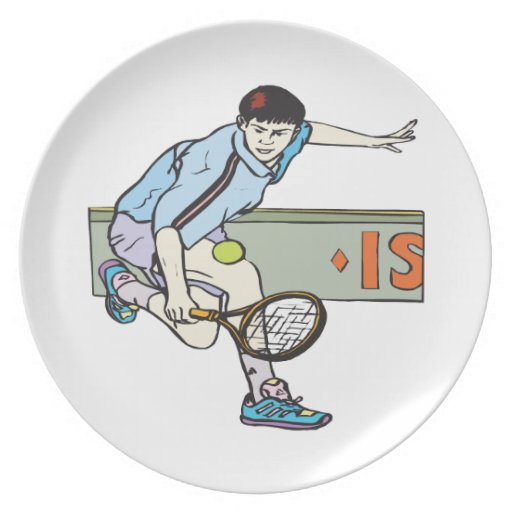 Backhanding Party Plate