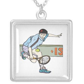 Backhanding Square Pendant Necklace