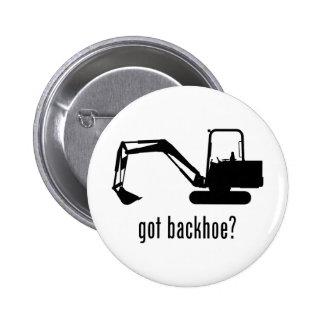 Backhoe 6 Cm Round Badge