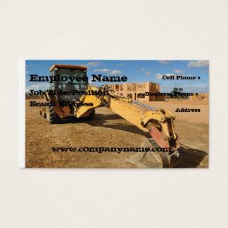 Backhoe Construction Business Card Template