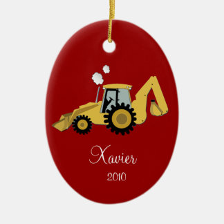 BACKHOE DIGGER Personalized Christmas Ornament