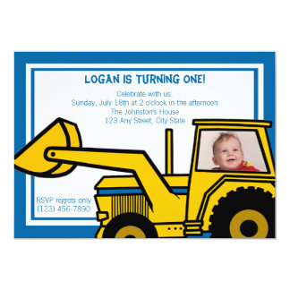 Backhoe Fun/ Photo Card