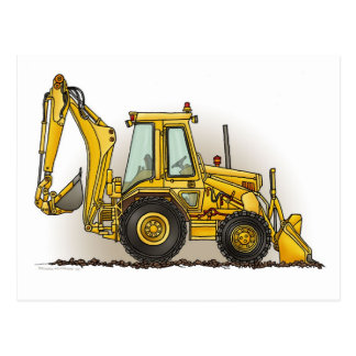 Backhoe Post Card