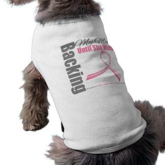 Backing My Mom Breast Cancer Sleeveless Dog Shirt