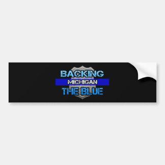 Backing the Blue Michigan Bumper Sticker