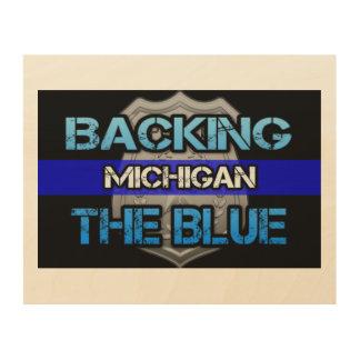 Backing the Blue Michigan Wall Art