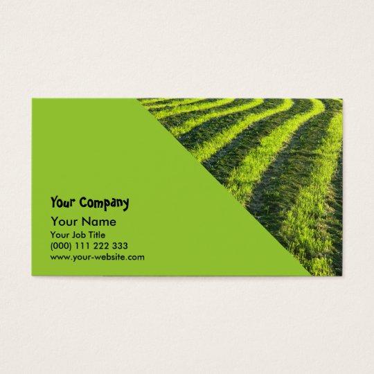 Backlit farmland business card