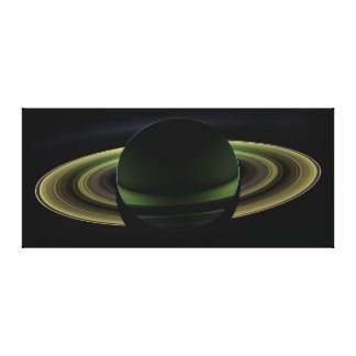 Backlit Saturn Planet Canvas Prints
