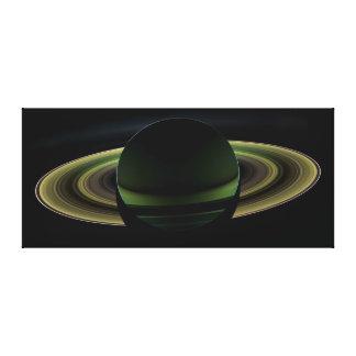 Backlit Saturn Planet Stretched Canvas Prints