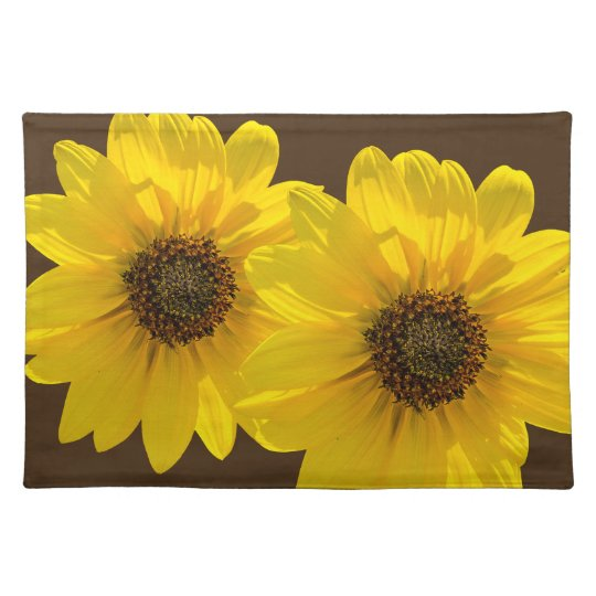 Backlit Sunflower (Helianthus) Placemats