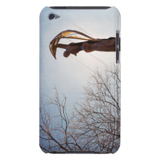 Backlit tatue outdoors near trees iPod touch covers