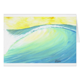 backlit wave greeting card