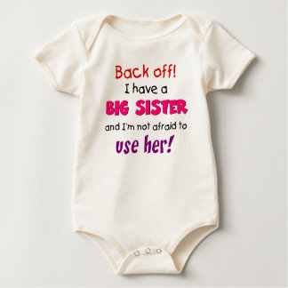 backoff sister baby bodysuit