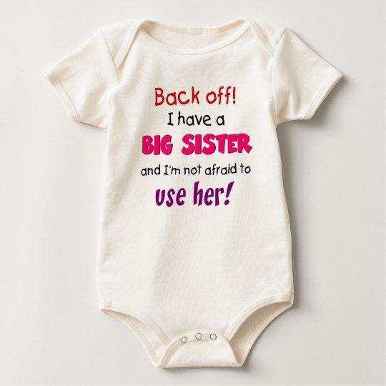 backoff sister baby bodysuit