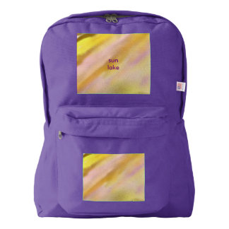 Backpack Amethyst Sun Lake Design Gold Lilac Sand