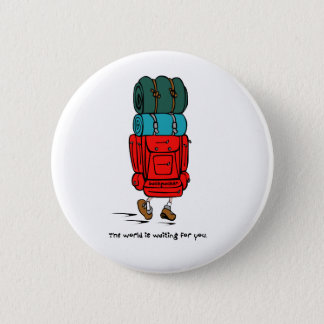Backpack Bigger than Hiker 6 Cm Round Badge