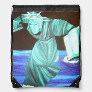 Backpack Statue of Liberty Art