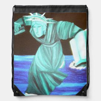 Backpack Statue of Liberty Art