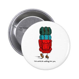 Backpacker 6 Cm Round Badge