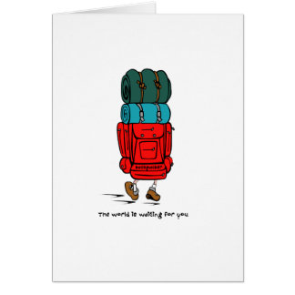 Backpacker Greeting Card