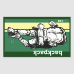 Backpacker (guy)-GreenYellow Rectangular Sticker