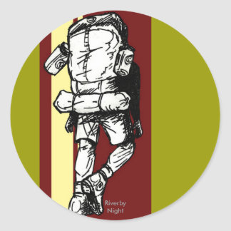 Backpacker (guy)-RedYellow Sticker