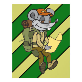 Backpacking Mouse 21.5 Cm X 28 Cm Flyer