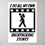 Backpacking Stunts Print