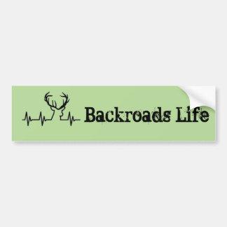 Backroads life bumper sticker