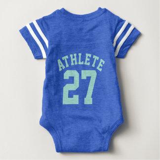 Backside Blue & Aquamarine Baby   Sports Jersey T Shirts
