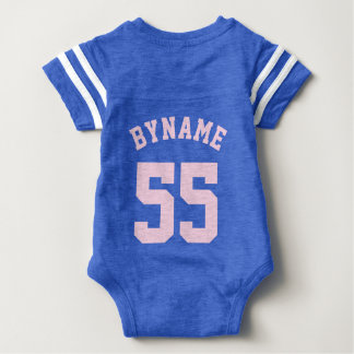 Backside Blue & Light Pink Baby | Sports Jersey Tshirts