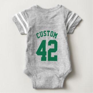 Backside Gray & Dark Green Baby   Sports Jersey T Shirts