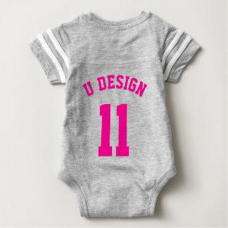 Backside Gray & Magenta Baby | Sports Jersey Shirt