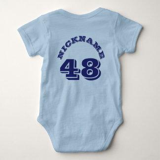 Backside Light Blue & Navy Baby | Sports Jersey Tshirt