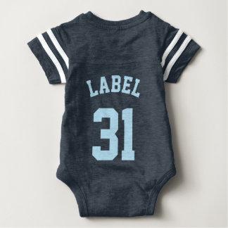 Backside Navy & Light Blue Baby | Sports Jersey T Shirts