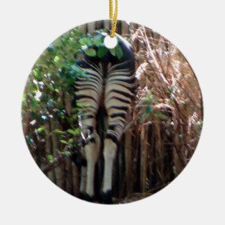 Backside of Okapi Christmas Ornament