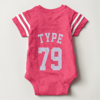 Backside Pink & Light Lilac Baby   Sports Jersey Baby Bodysuit