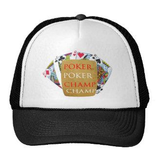 Backside Print - POKER PlayingCard Champion Mesh Hats
