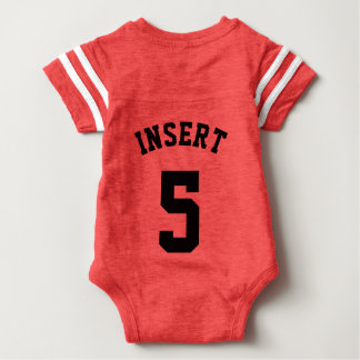 Backside Red & Black Baby | Sports Jersey Design T-shirts